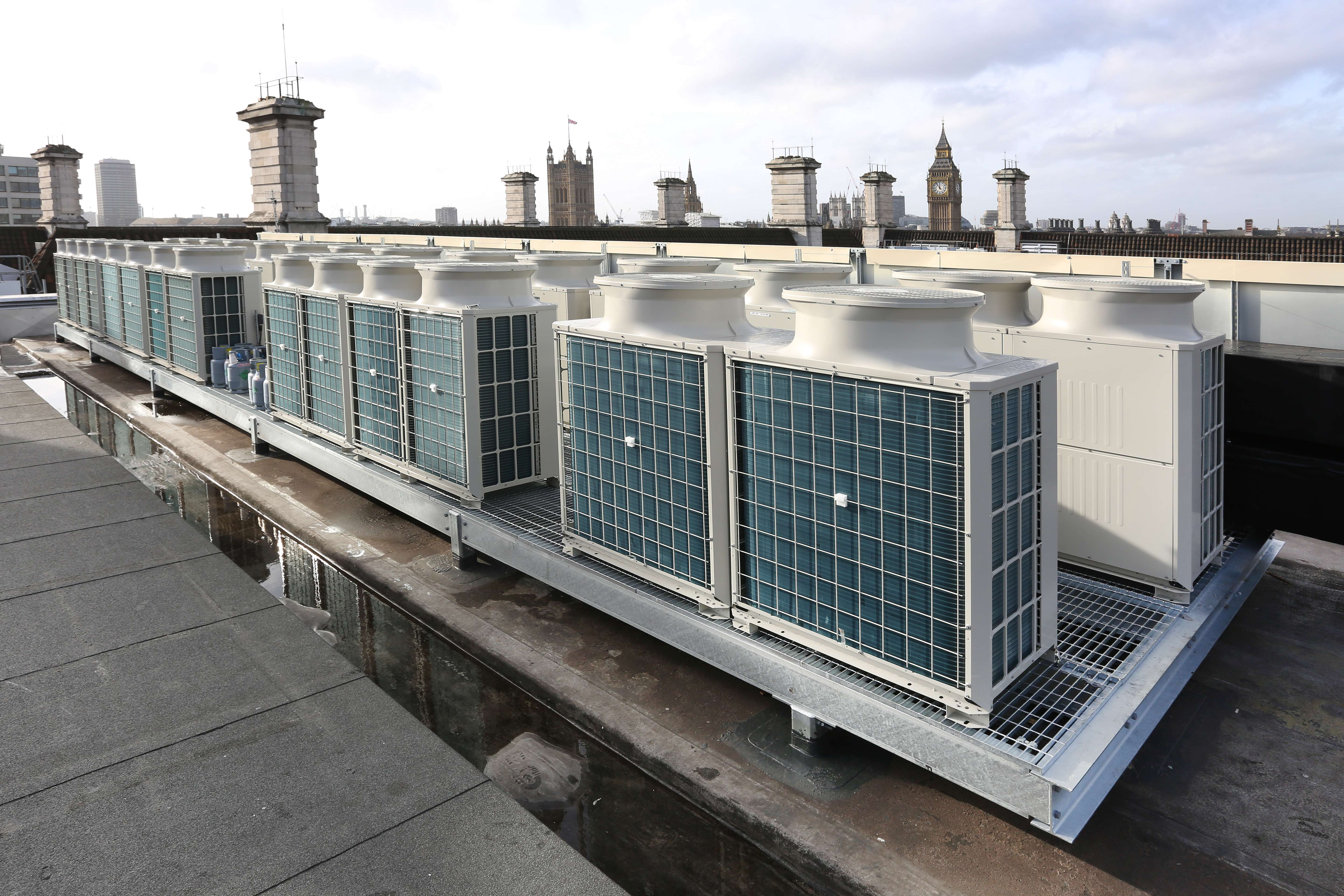 Air Conditioning Rooftop Installation Towers London City
